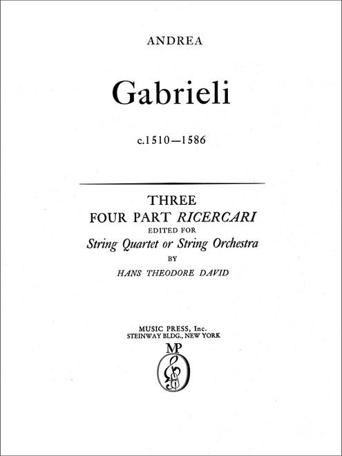Gabrieli, Three Four-part Ricercari[CF:154-40018S]