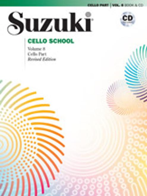 Suzuki Cello School Cello Part & CD, Volume 8 (Revised) [Alf:00-40754]