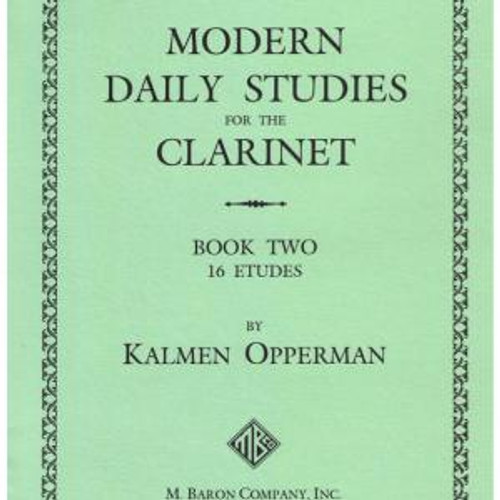Opperman - Modern Daily Studies for the Clarinet, Book 2 [Baron4]