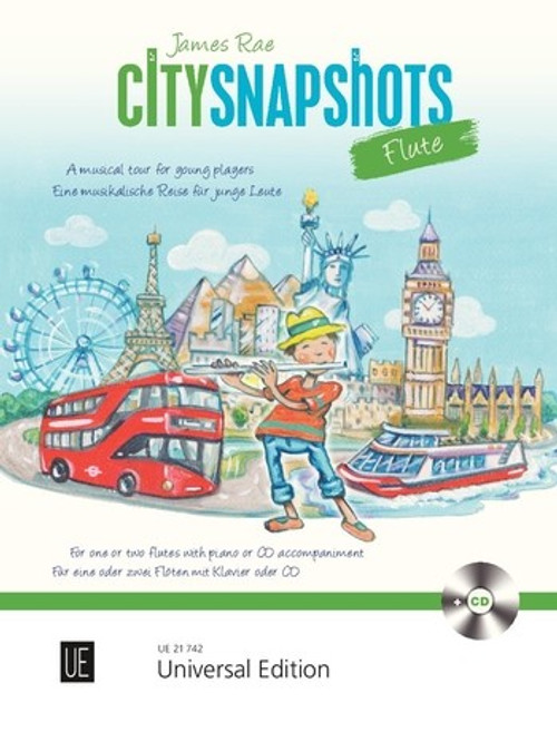 Rae, City Snapshots for 1-2 flutes with CD or piano accompaniment [UE: 21742]