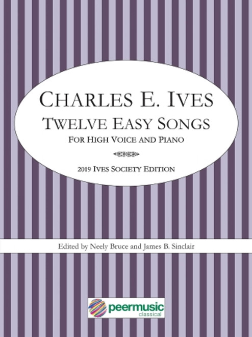 Vocal - Ives - Twelve Easy Songs for High Voice and Piano [HL: 00304688]