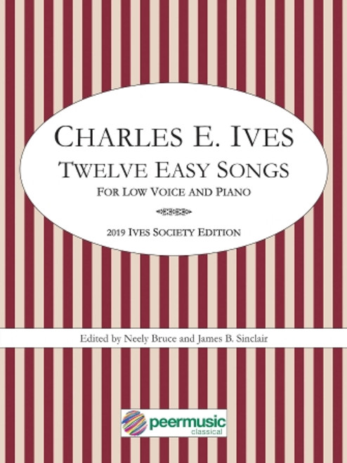 Vocal - Ives - Twelve Easy Songs for Low Voice and Piano [HL: 0304703]