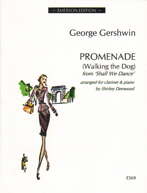 Promenade - Walking the Dog - George Gershwin arranged for alto saxophone and piano by Shirley Denwood [E572]