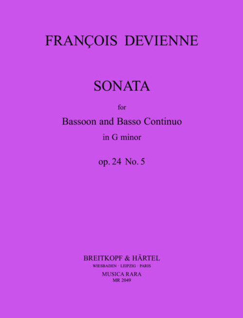 Devienne, Sonata for Bassoon and Basoo Continuo, op.24 No.5