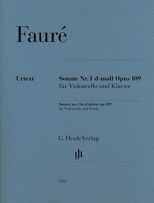 Cello - Faure - Sonata No. 1 in d minor, Op, 109 [HL:51481357]