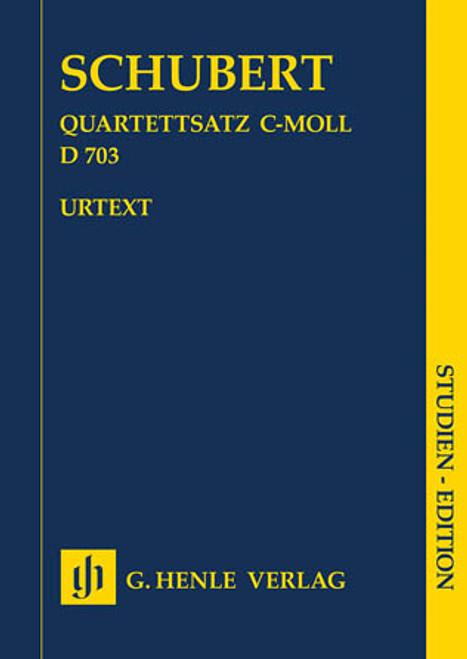 Miniature Score - Schubert - Quartettsatz in c minor, D. 703 [HL:51487317]