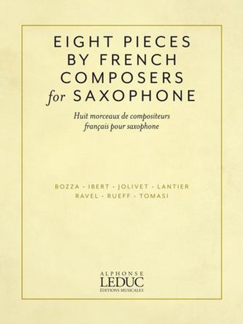 Saxophone - Eight Pieces by French Composers for Saxophone [HL: 5060241]