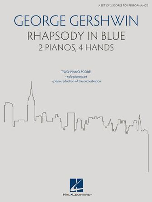 2 Pianos - Gershwin - Rhapsody in Blue for 2 Pianos, 4 Hands [HL: 00286540]
