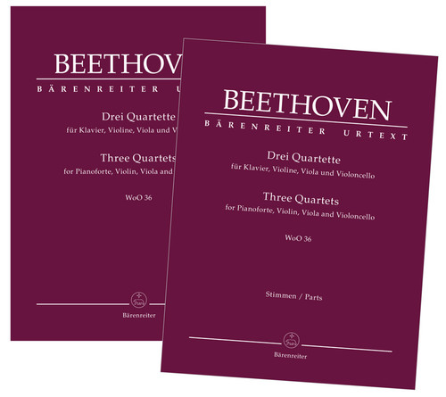 Beethoven,  Three Quartets for Pianoforte, Violin, Viola and Violoncello WoO 36 [KGA:BA9027]