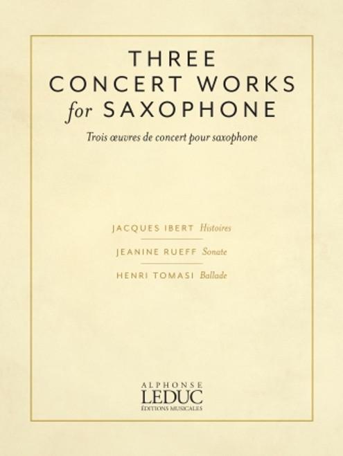 Three Concert Works for Saxophone [HL:50602242]