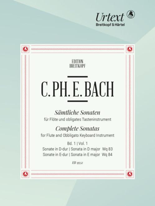 Flute and Obbligato Keyboard - C.P.E. Bach - Complete Sonatas Vol. 2 [Breit: EB9353]