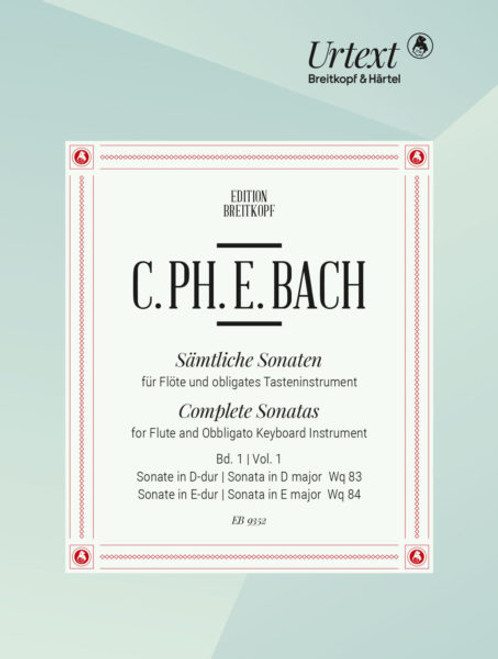 Flute and Obbligato Keyboard - C.P.E. Bach - Complete Sonatas Vol. 3 [Breit: EB9354]