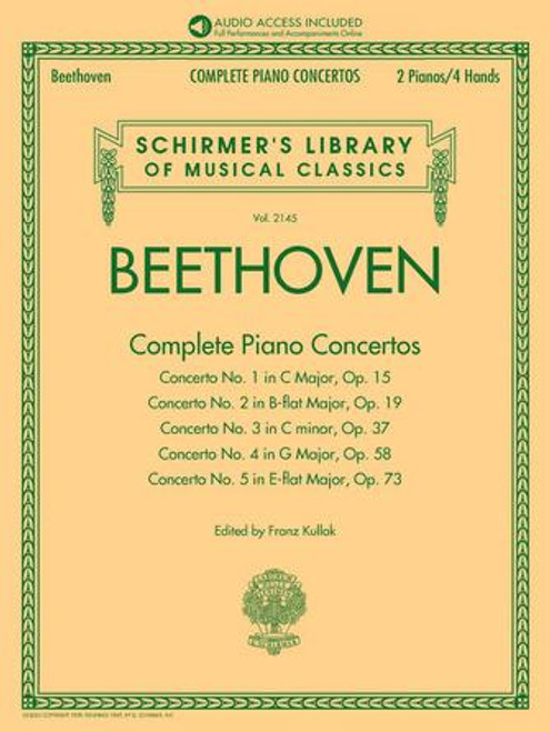 Piano - Beethoven - Complete Piano Concertos (with Audio of Full Performances & Orchestral Accompaniments) [HL: 50603273]]