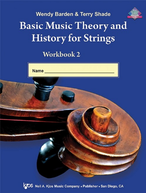 Shade:Basic Music Theory and History for Strings, Workbook 2 - String Bass[Db st.]