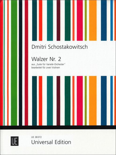 Shostakovich: Walzer Nr. 2 for two violins[CF:UE038072]