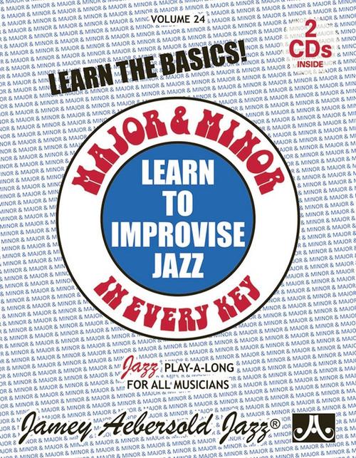 Jamey Aebersold Jazz, Volume 24: Learn to Improvise Jazz-Major & Minor in Every Key [Alf:24-V24DS]