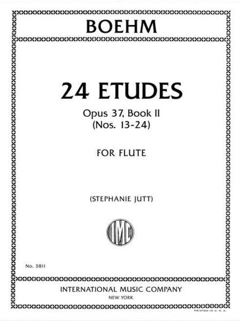 Boehm: 24 Etudes, Opus 37, Book II (Etudes 13-24) for Solo Flute[Int:3811]