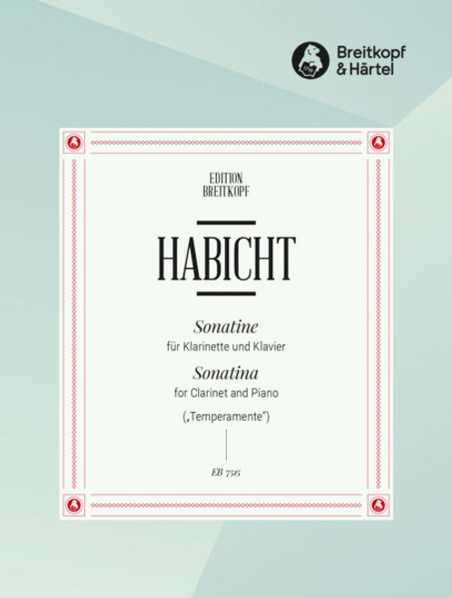 Günter Habicht: Sonatina for Clarinet and Piano[EB7515]