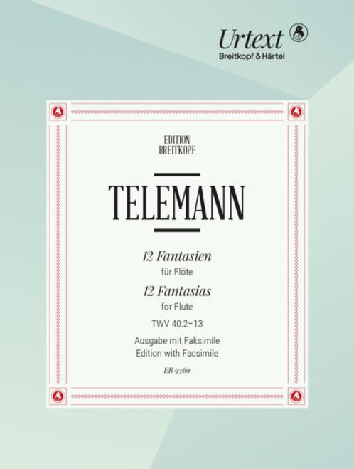 Telemann, 12 Fantasias for Flute TWV 40:2-13
