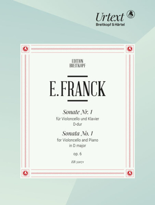 Franck, Sonata Nr. 1 in D for Cello and Piano [EB32071]