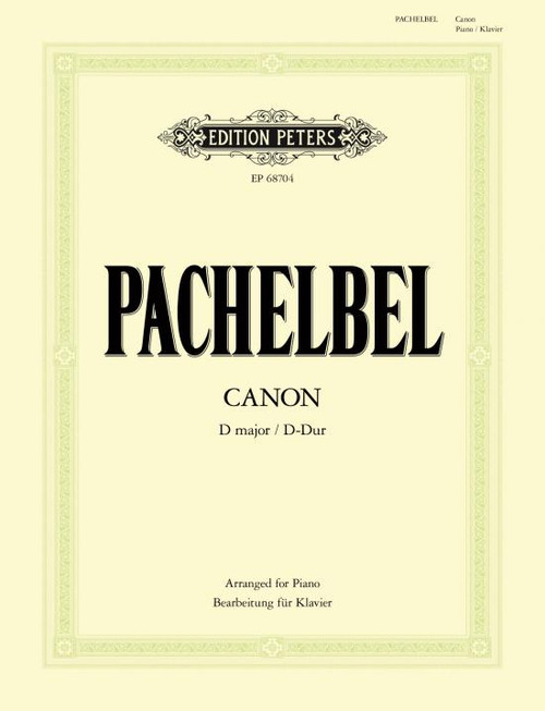 Pachelbel, Canon in D (Arranged for Piano) [Pet:EP68704]