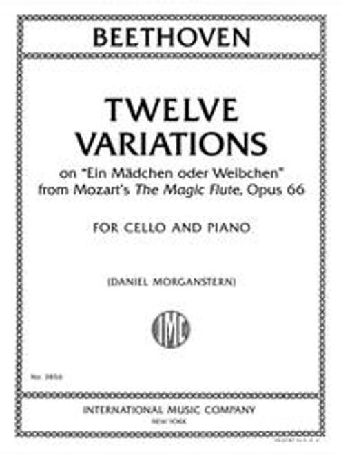"""Beethoven, Twelve Variations on """"Ein Madchen oder Weibchen,"""" Op. 66 [Int:3856]"""