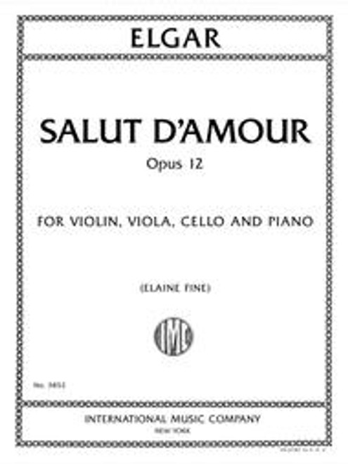 Elgar, Salut d'Amour, Op. 12, for violin, viola, cello, and piano [Int:3852]