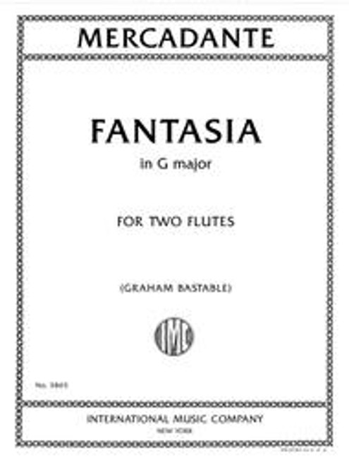 Mercadante, Fantasia in G major for two flutes [Int:3865]