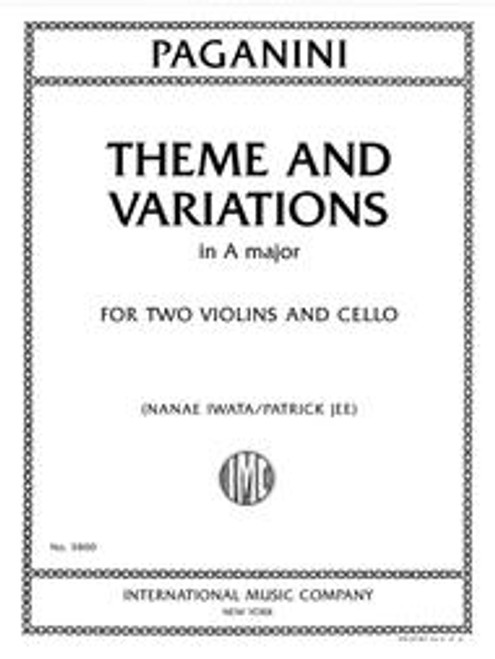 Paganini, Theme and Variations in A major for two violins and cello [Int. 3800]