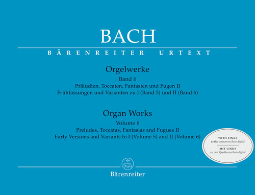 Bach, Preludes, Toccatas, Fantasias and Fugues II / Early Versions and Variants to I (Volume 5) and II (Volume 6)[BA5266]