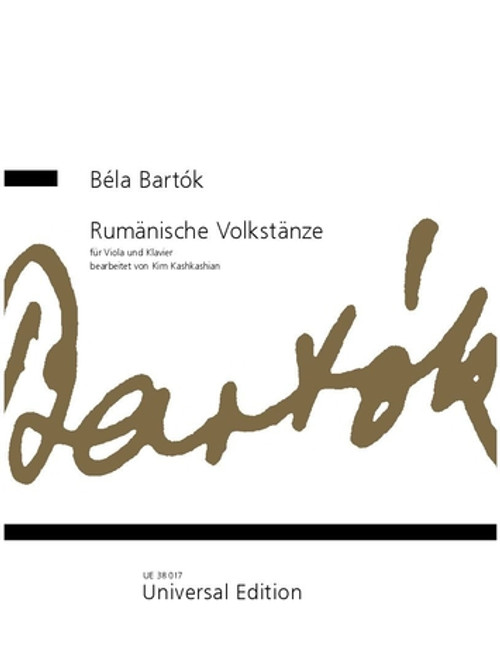 Bartok, Romanian Folk Dances for viola and piano [CF:UE38017]
