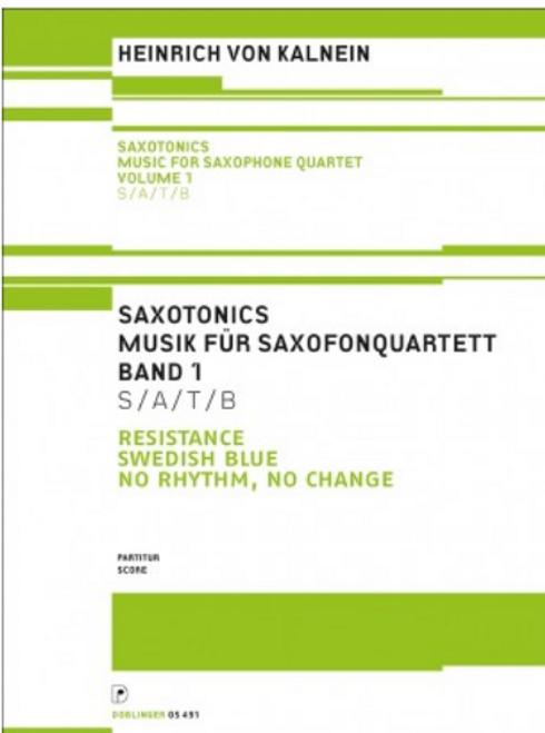 Heinrich Von Kalnein, Saxotonics Volume 1 (Score) [Ancora:DO05491-PA]