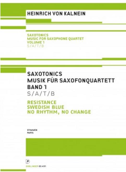Heinrich Von Kalnein, Saxotonics Volume 1 (Parts) [Ancora:DO05491-ST]