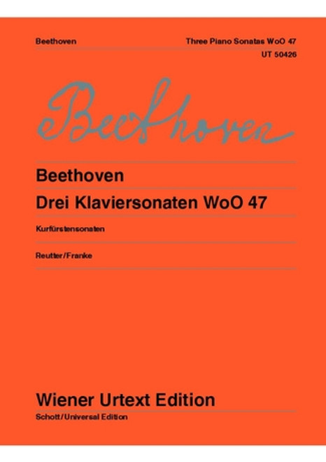 Beethoven, Three Sonatas for Piano, WoO 47 [CF:UT50426]