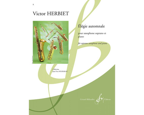 Herbiet - Elégie Automnale for Saxophone and Piano [Press:524-09021]