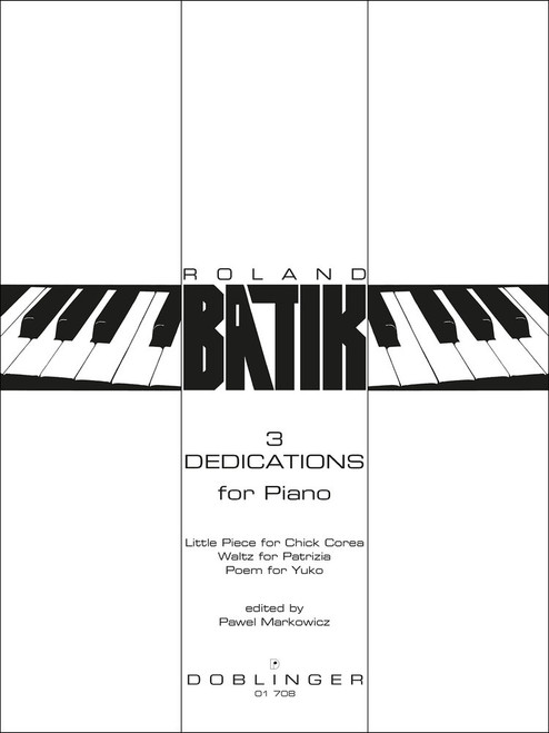 Batik, 3 Dedications for Piano [Dob:01708]