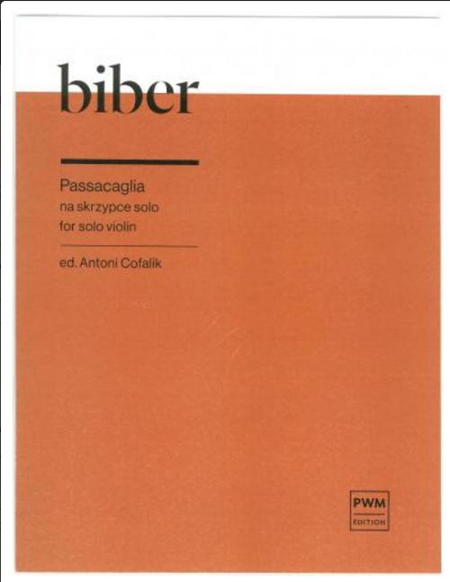 Biber, Passacaglia for Solo Violin[HL:132168]