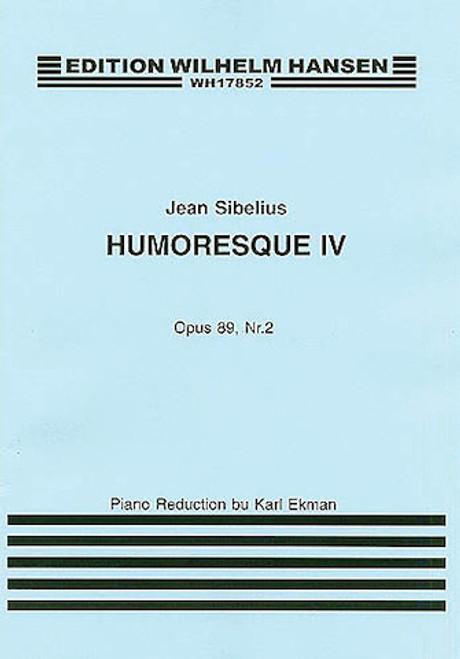 Sibelius - Humoresque IV Op.89 No.2 (Violin/Piano) [HL:14030041]