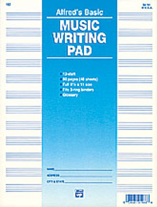 "12 Stave Music Writing Pad (8 1/2"" x 11"") [Alf:00-182]"