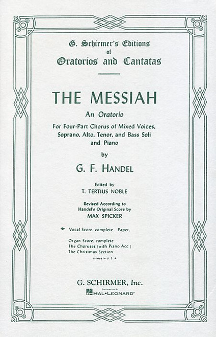 Handel, Messiah (Oratorio, 1741) [HL:50323760]