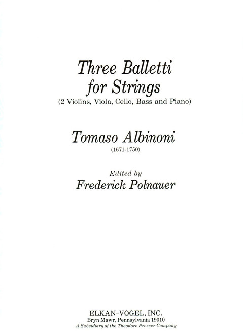 Albinoni, Three Balletti For Springs [CF:166-00063]