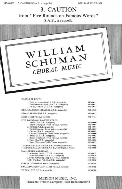 Schuman, Caution [CF:342-40002]