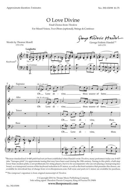 Handel, O Love Divine [CF:392-03098]