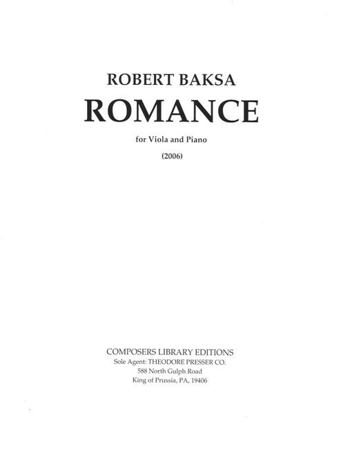 Baksa, Romance For Viola And Piano [CF:494-02854]