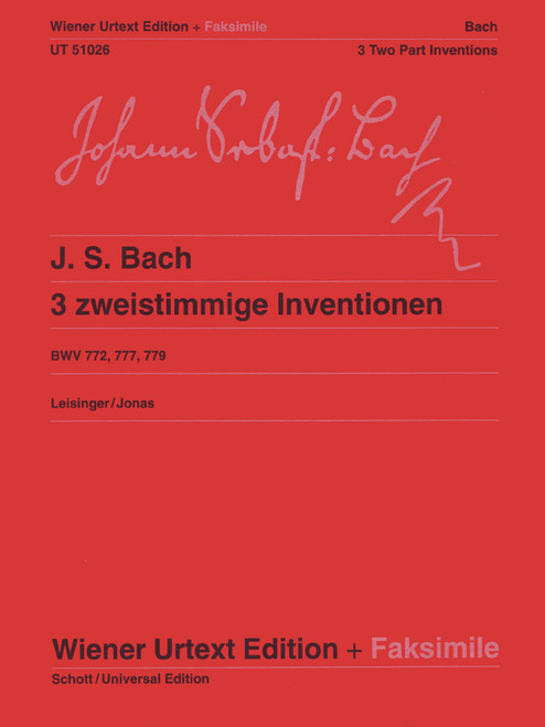 Bach, J.S. - 3 Zweistimmige Inventionen [CF:UT051026]