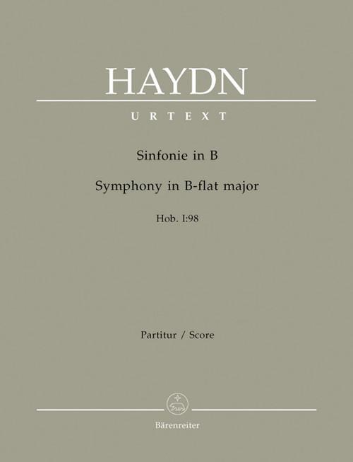Haydn, Symphony B flat major Hob. I:98 [Bar:BA4695]