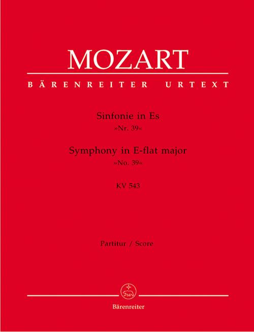 Mozart, Symphony No. 39 E flat major KV 543 [Bar:BA4723]