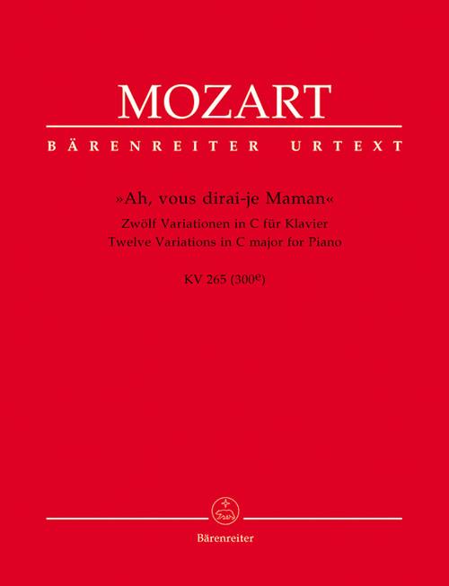 "Mozart, ""Ah, vous dirai-je Maman"" [Bar:BA4779]"