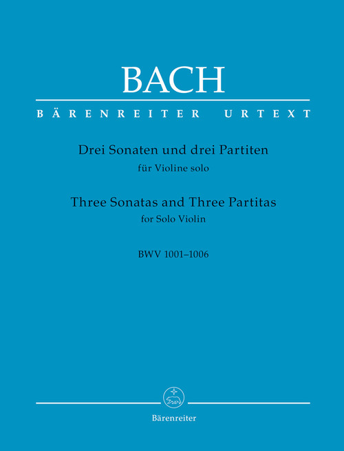 Bach, J.S. - 3 Sonatas and 3 Partitas for Violin-Revised Edition [Bar:BA5256]