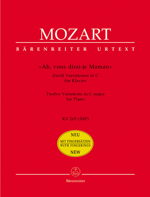 "Mozart, ""Ah, vous dirai-je Maman"" [Bar:BA5765]"